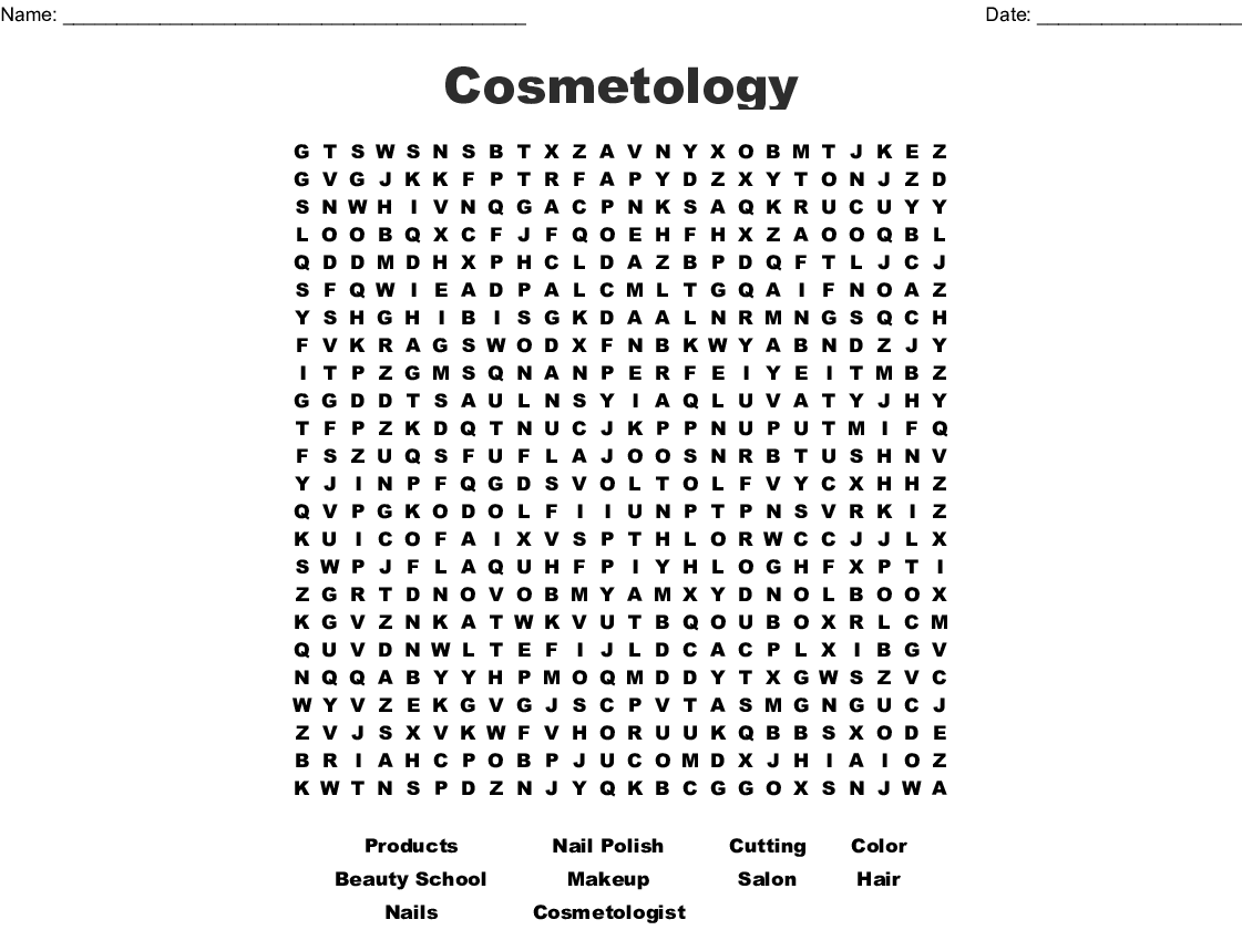 Girls And Fashion Word Search