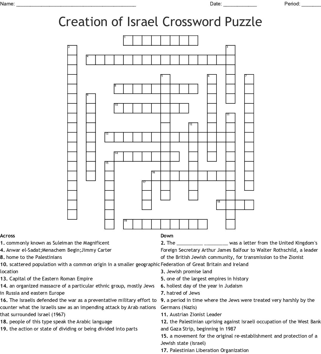 Answer Key Social Stu S Crossword Puzzles Answers