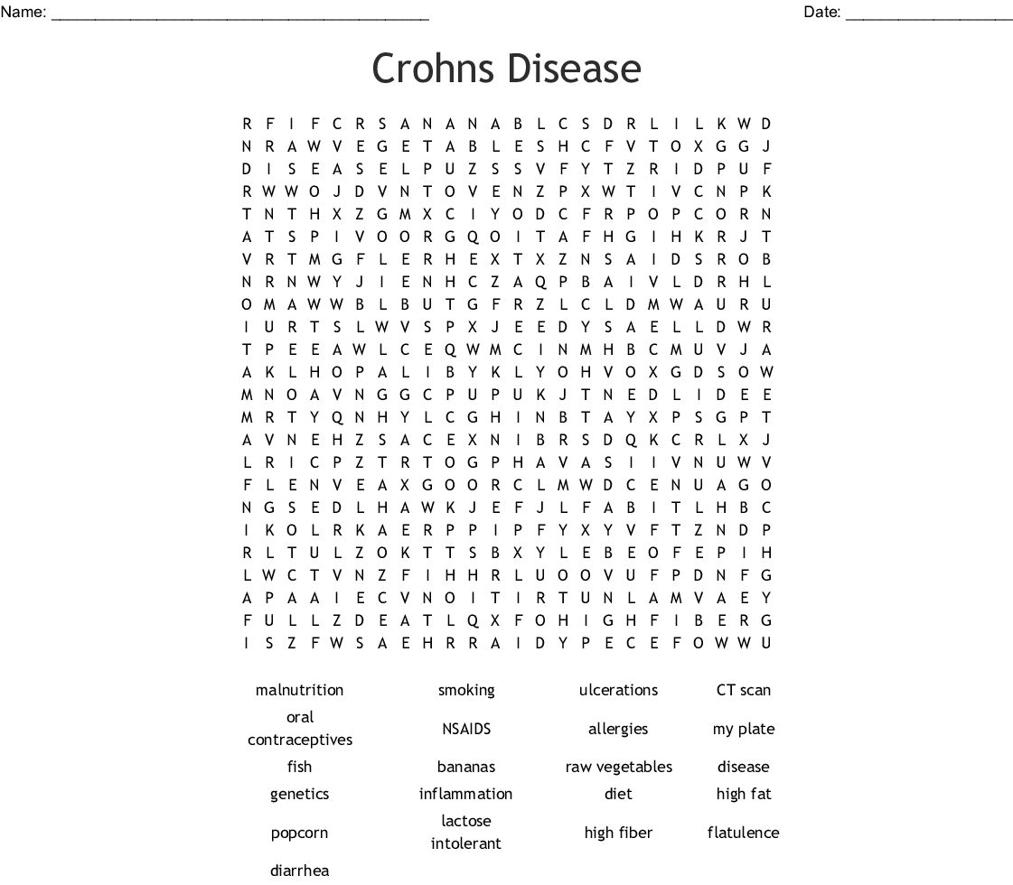 Crohns Disease Word Search