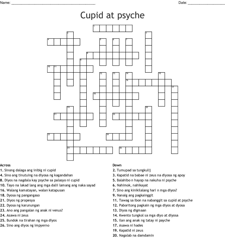 Cupid And Psyche Crossword