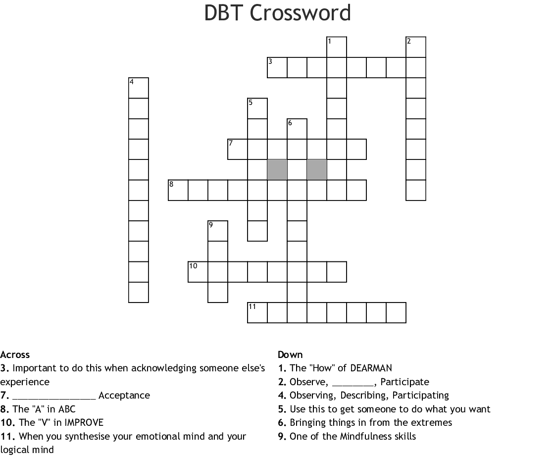 Dbt Crossword