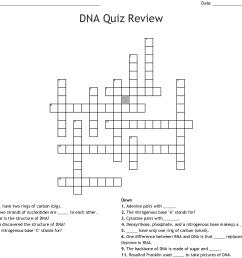 dna quiz review crossword [ 1121 x 1060 Pixel ]