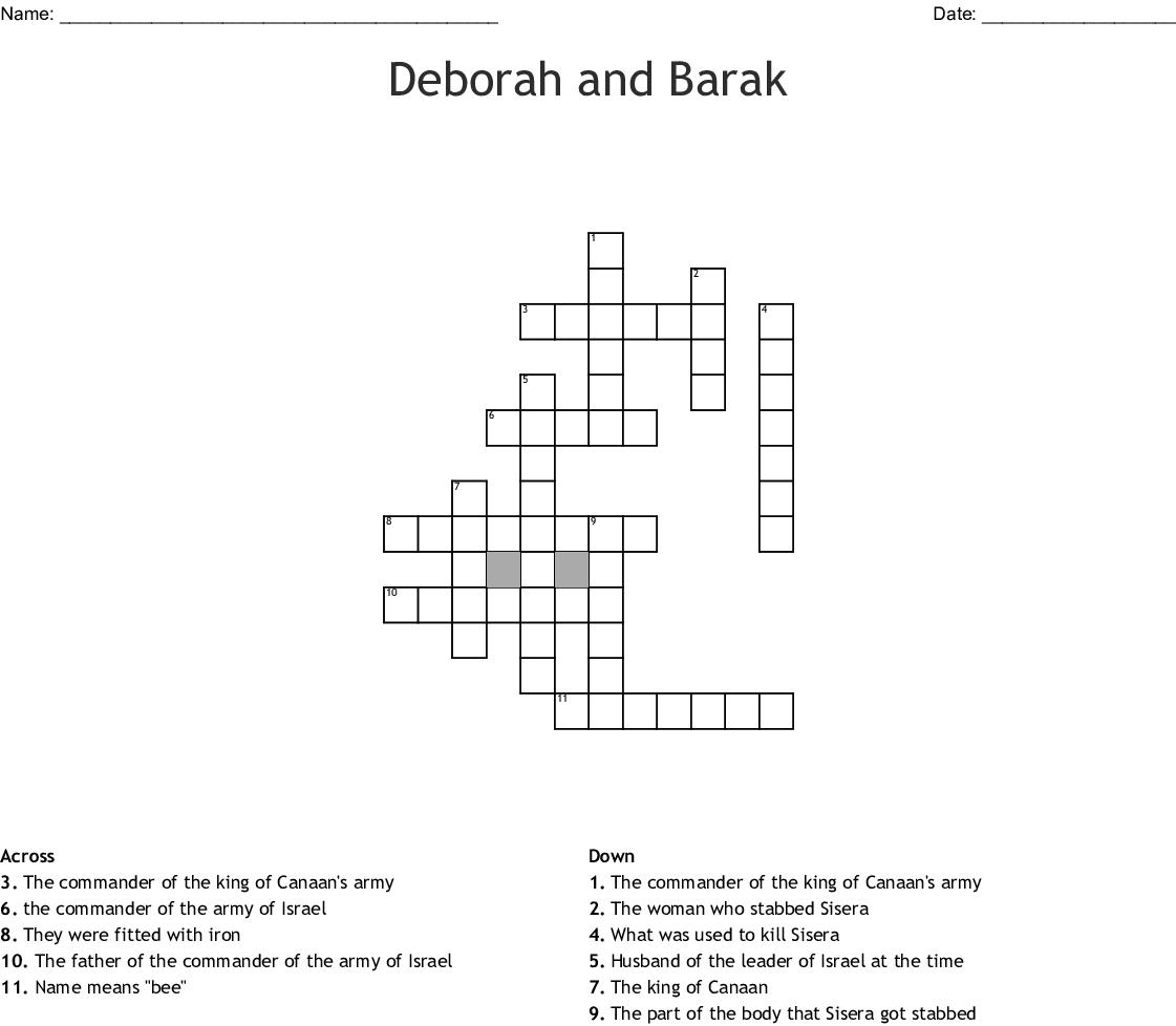 Deborah And Barak Crossword