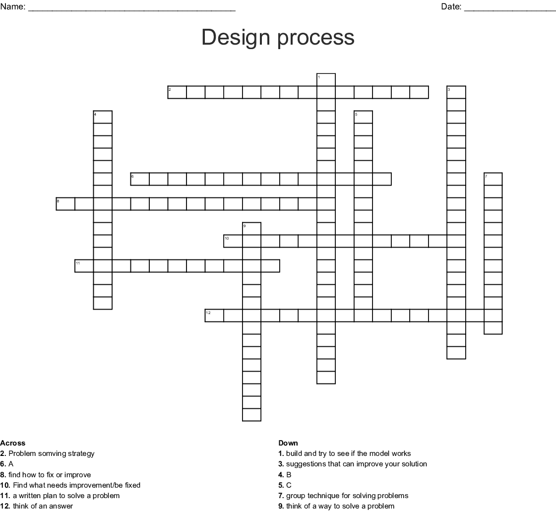 Engineering Design Process Word Search