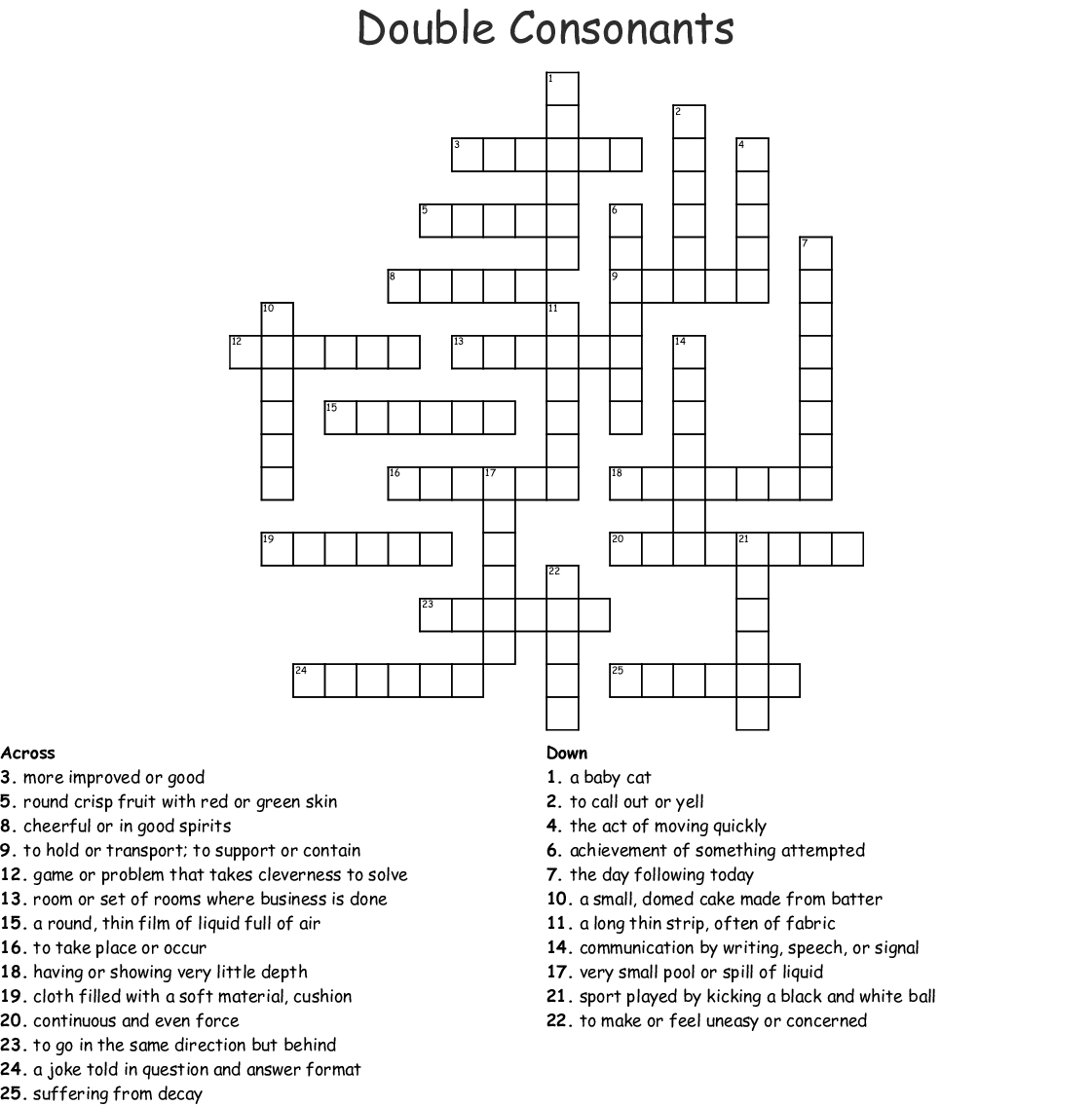 Double Consonants