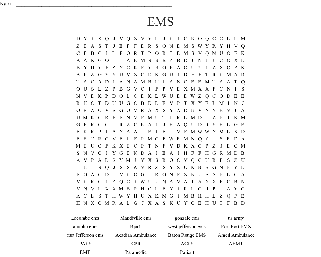 Ems Word Search