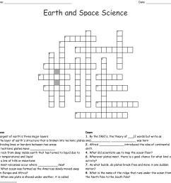 earth and space science crossword [ 1121 x 1131 Pixel ]