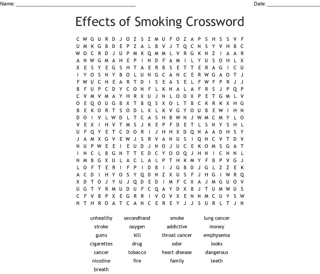 Heart Disease Word Search