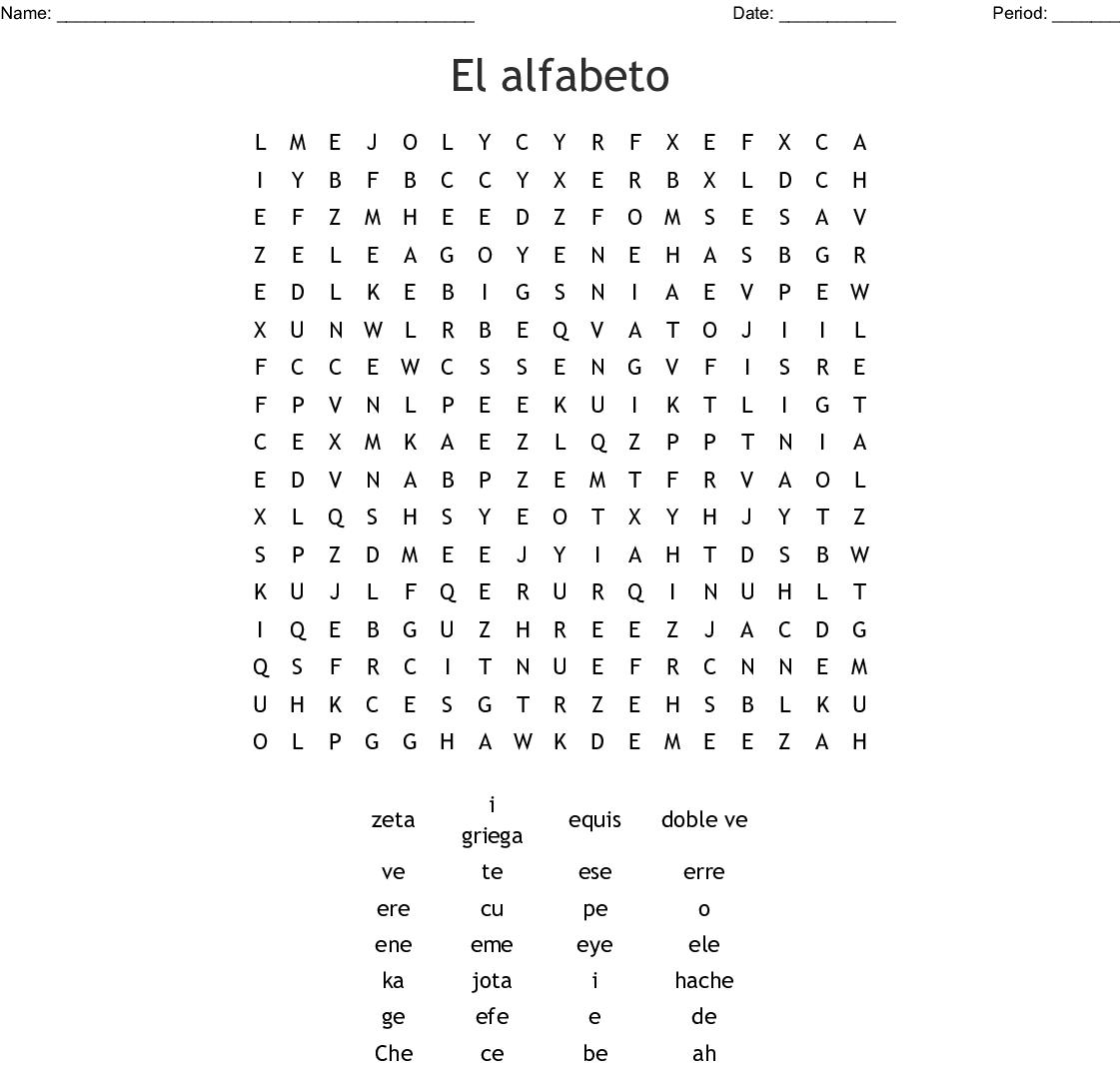 El Alfabeto Crossword