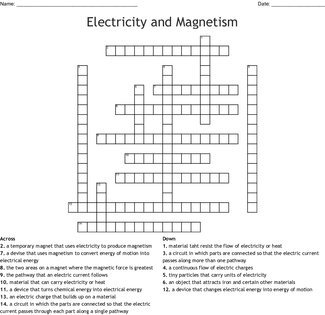 Electric Circuits And Electric Current Worksheet Answers