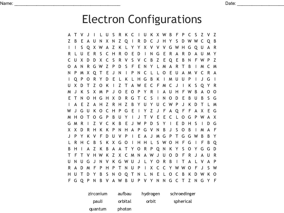 29 Electron Configuration And Orbital Diagram Worksheet