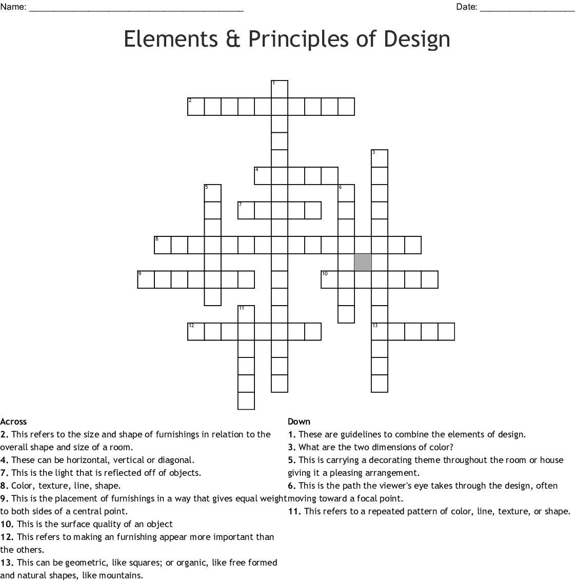 Elements Of Art Line Worksheet