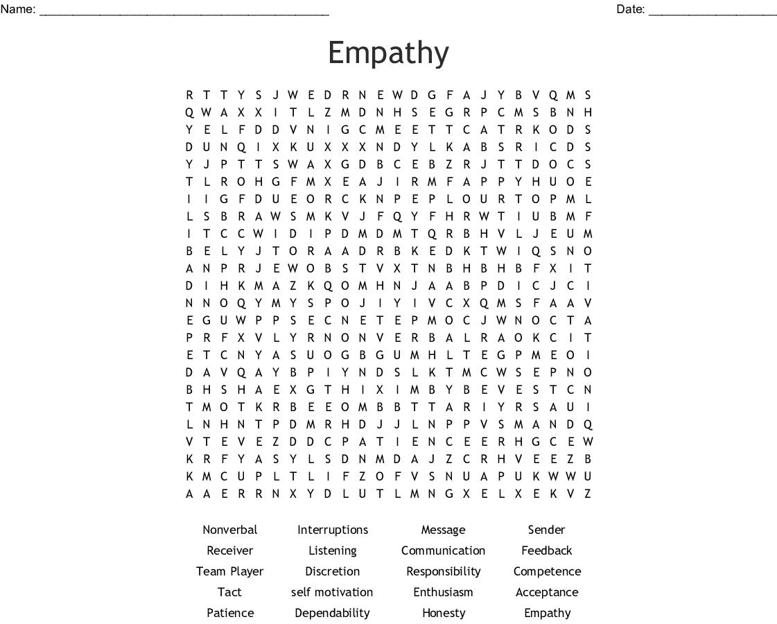 Social Skills Word Search