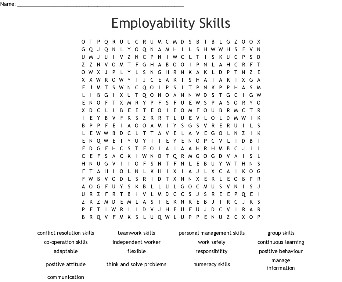Problem Solving Word Search