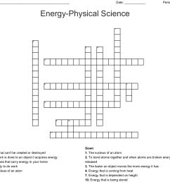 energy physical science crossword [ 1121 x 1008 Pixel ]