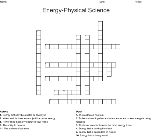 small resolution of energy physical science crossword
