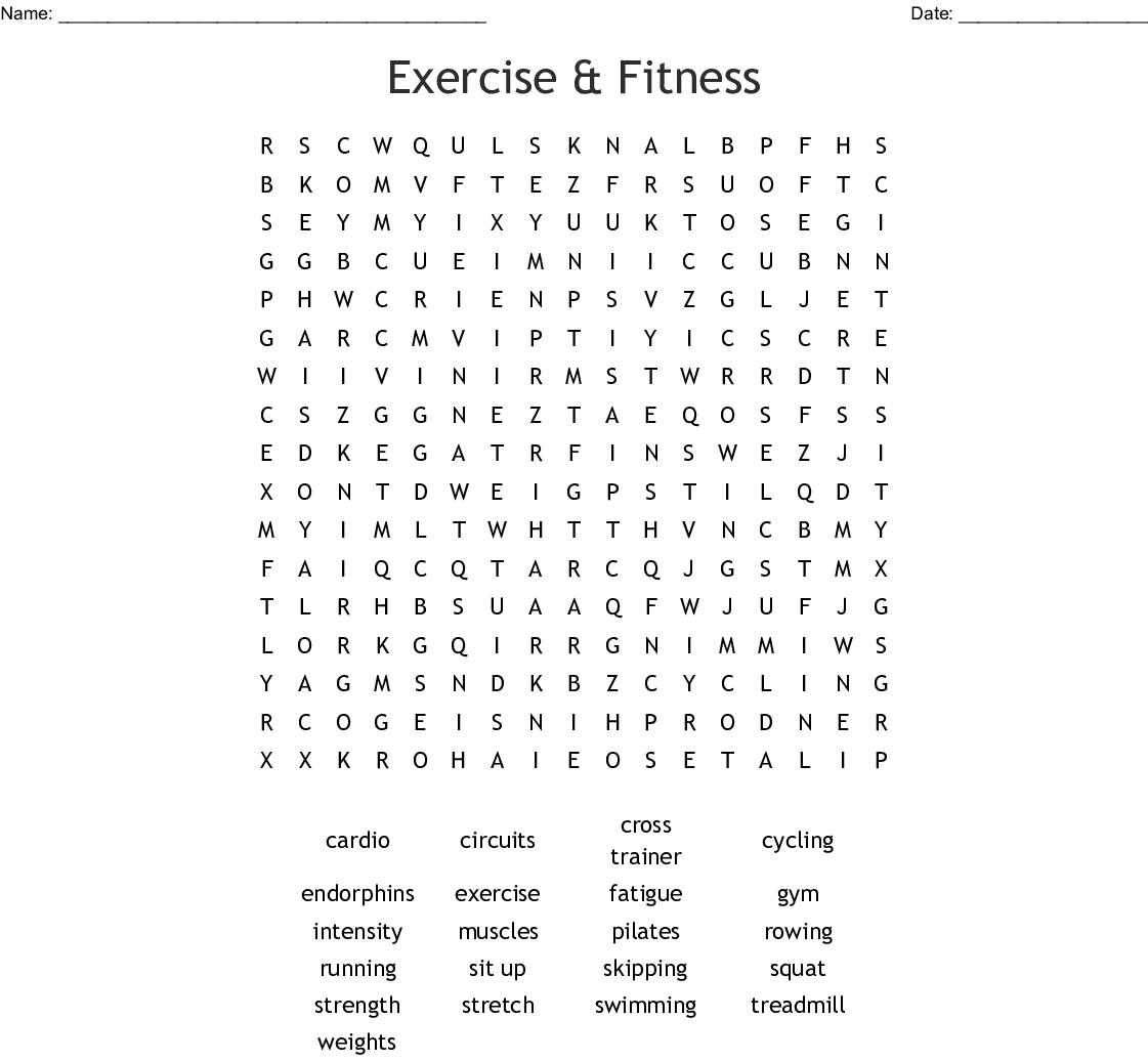 Fitness Exercise Worksheets | Wiring Diagram Database