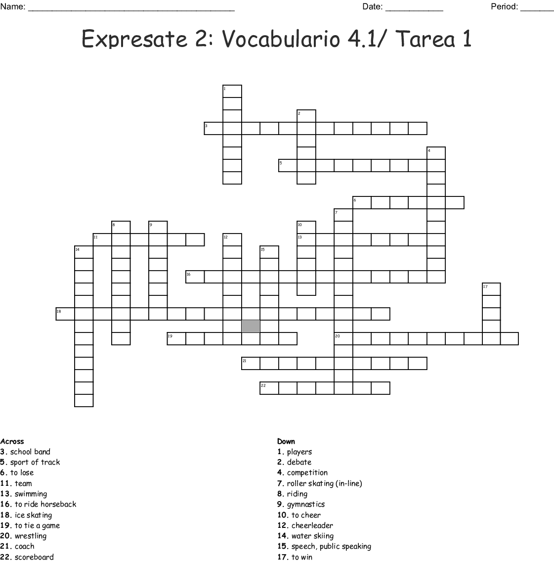 Crossword Expresate Level 3 Answers