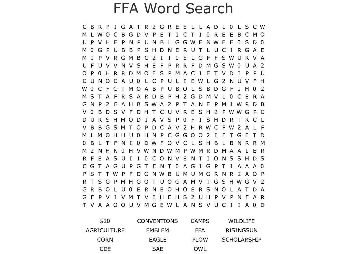 The Ffa Emblem Word Search