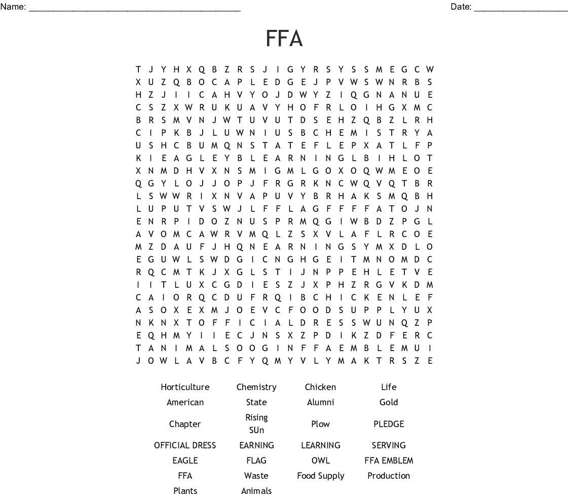 Similar To Ffa Puzzle Crossword