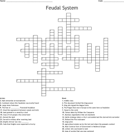feudal system crossword [ 1121 x 1205 Pixel ]