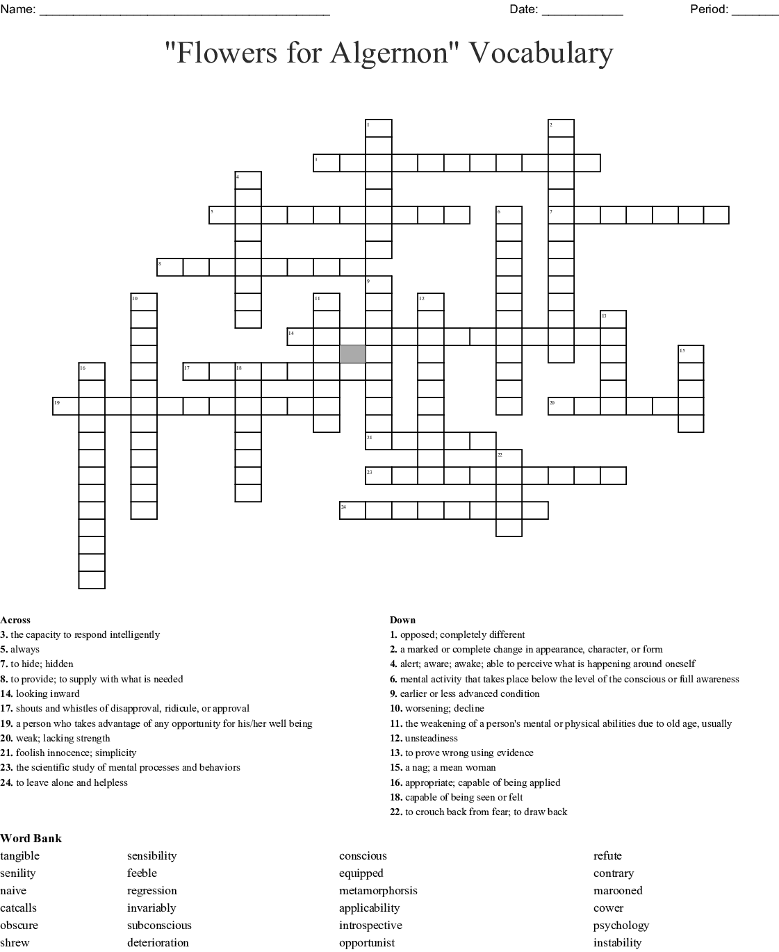 Chapters 1 And 2 Vocabulary Word Scramble