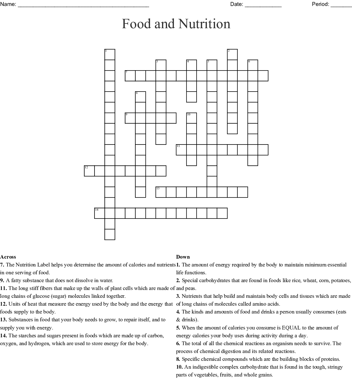 Fun Duh Mental Puzzle Nutrition Answers