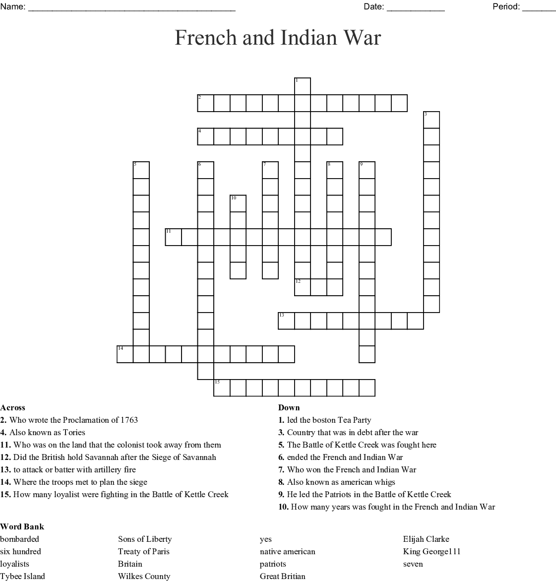 French Amp Indian War Proclamation Of Battle Of