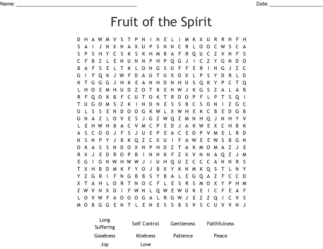 Spirituality Word Search