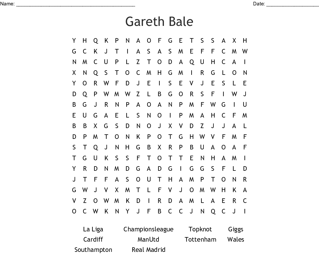 Soccer Teams Word Search