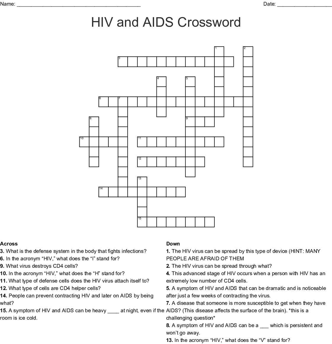 Neuro Crossword