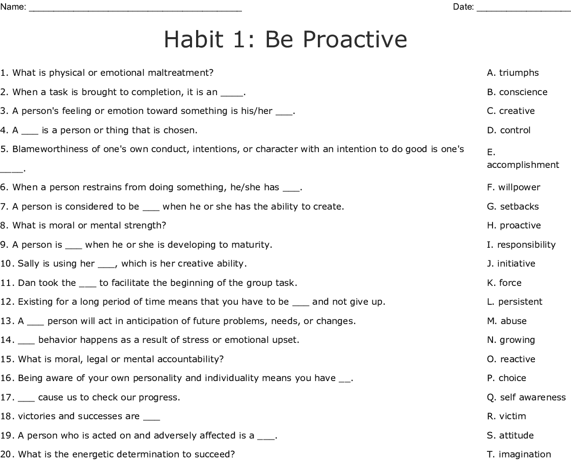 Proactive Vs Reactive Word Search