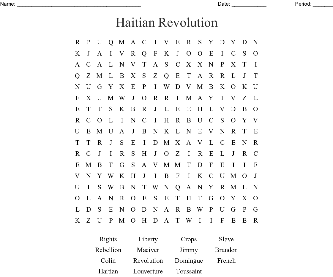 Reform Movements Word Search