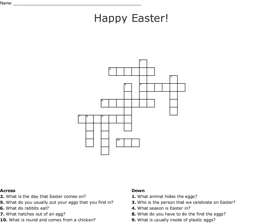Happy Easter Crossword