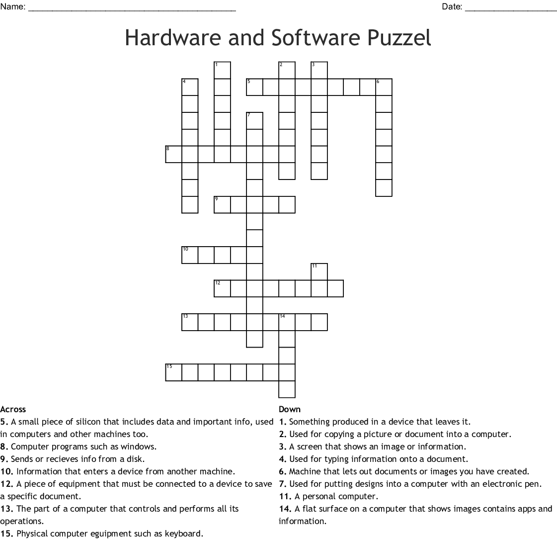 Computer Crossword Puzzle
