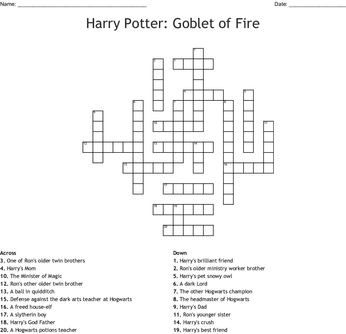 Harry Potter Potions Worksheet