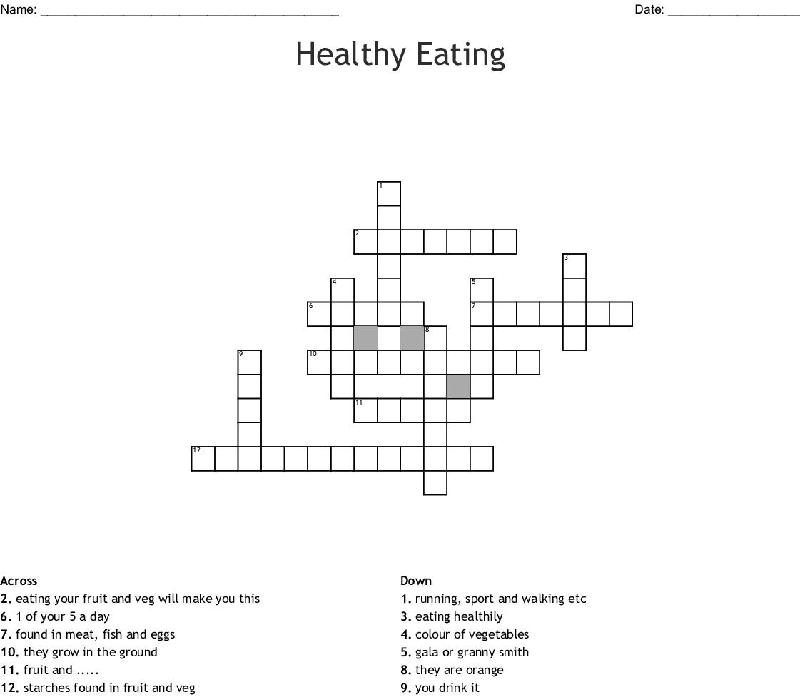 Healthy Eating Crossword