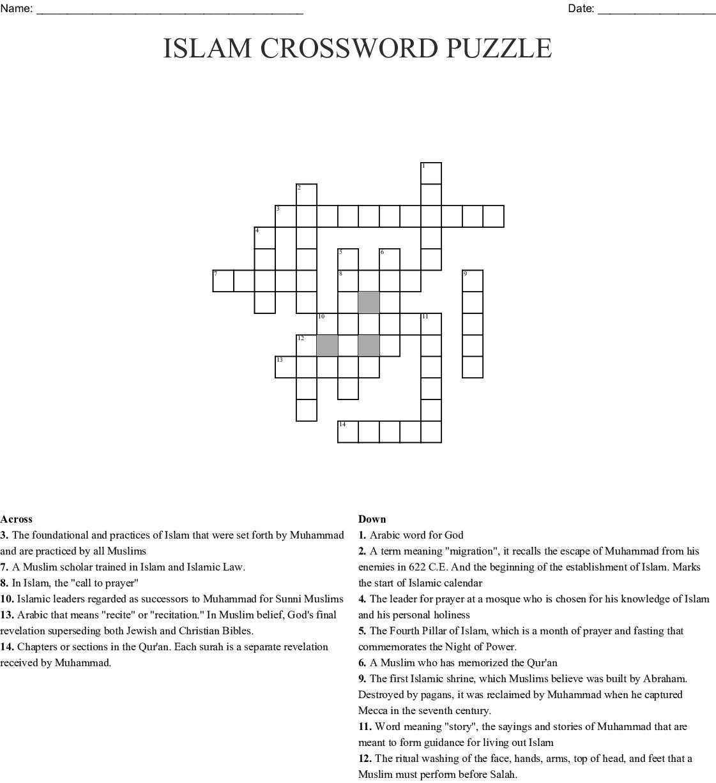 5 Pillars Of Islam Word Search