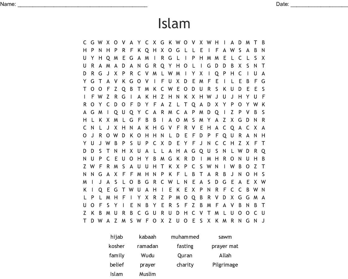 Islam Word Search