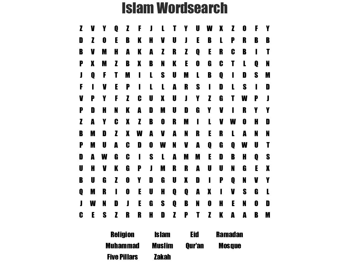 Islam Wordsearch