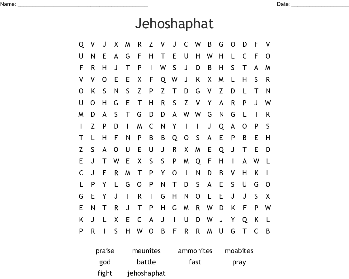 Jehoshaphat Word Search