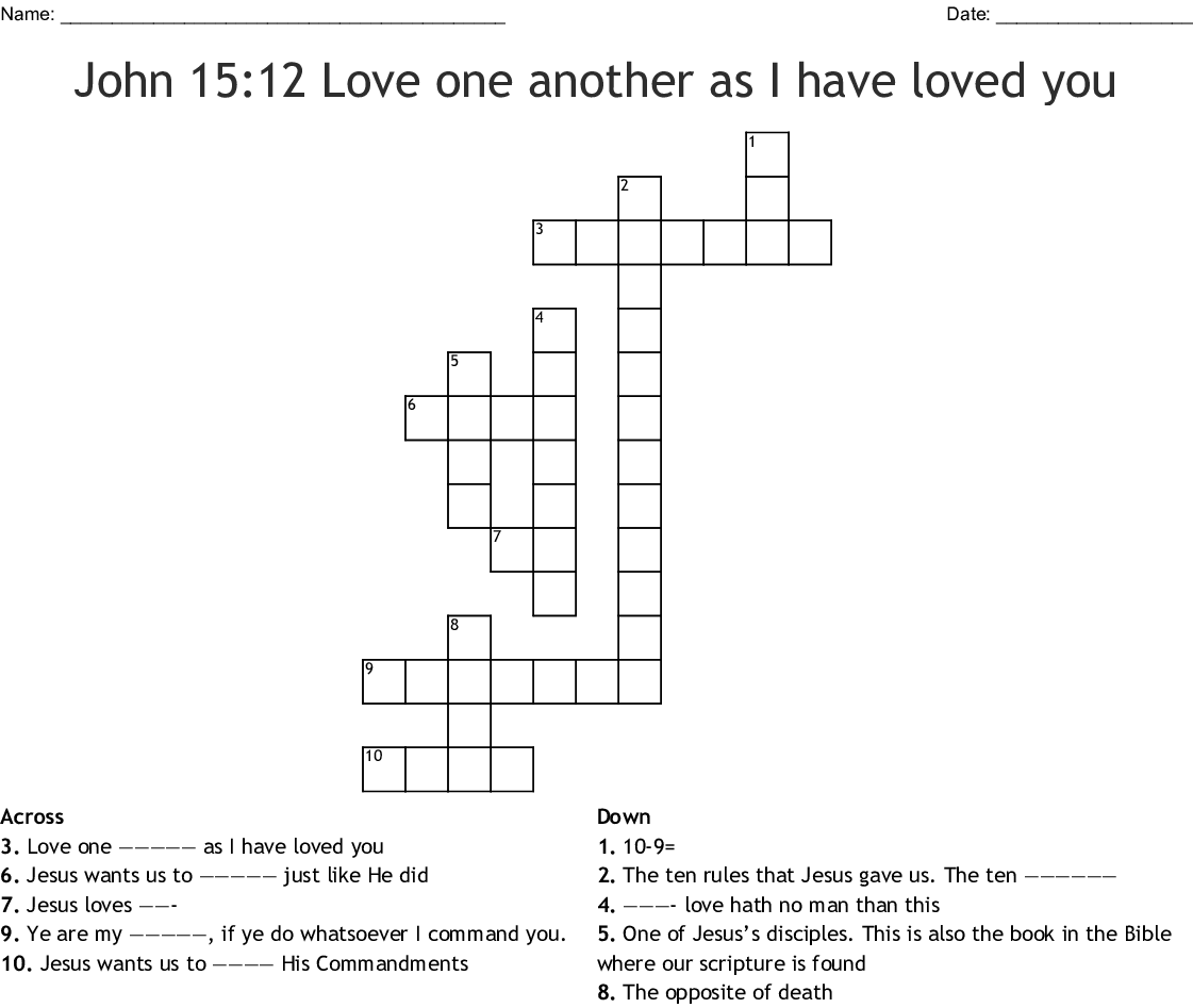 John 15 12 Love One Another As I Have Loved You Word