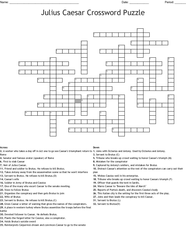 Polygon Crossword Puzzle Worksheet