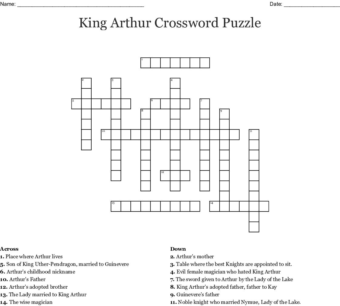 Sir Gawain Crossword Puzzle