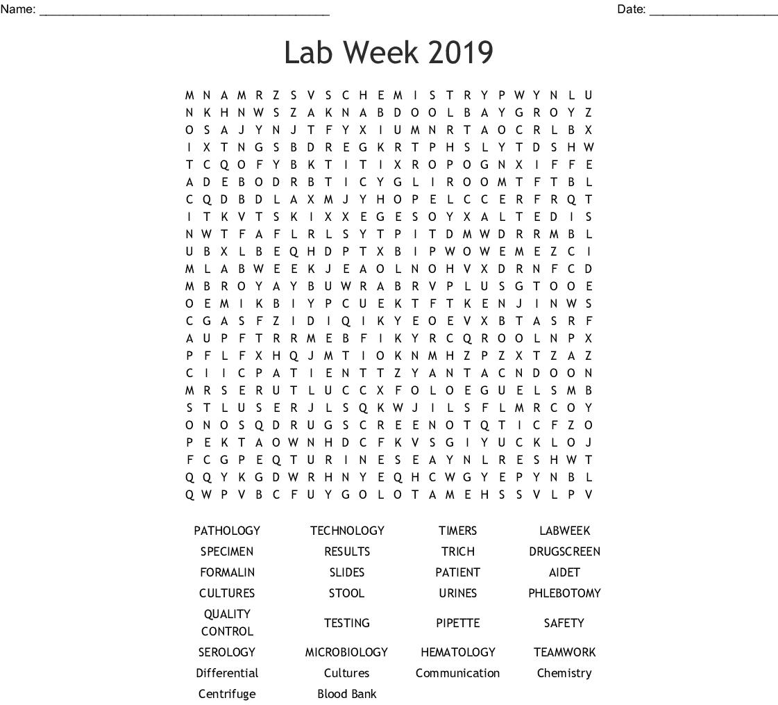 Lab Week Word Search