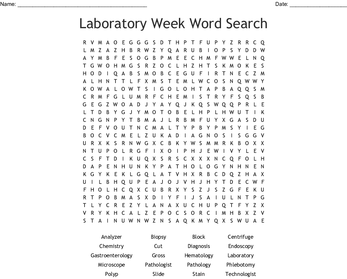 Surgical Technician Week Word Search