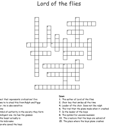 lord of the flies crossword [ 1121 x 1007 Pixel ]