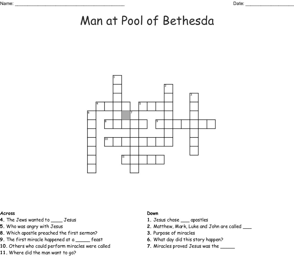 Man At Pool Of Bethesda Crossword