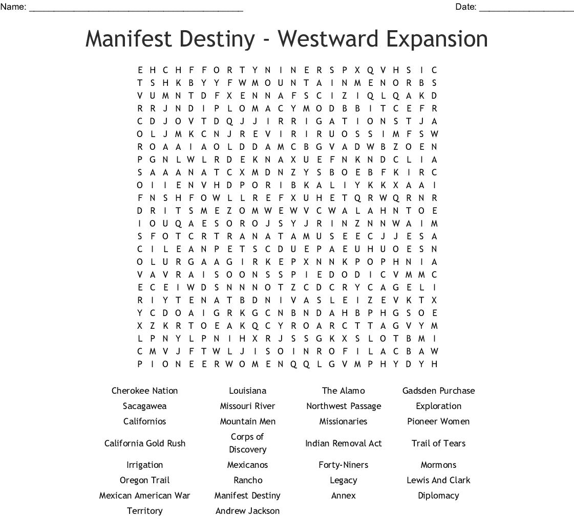 America The Story Of Us Westward Worksheet