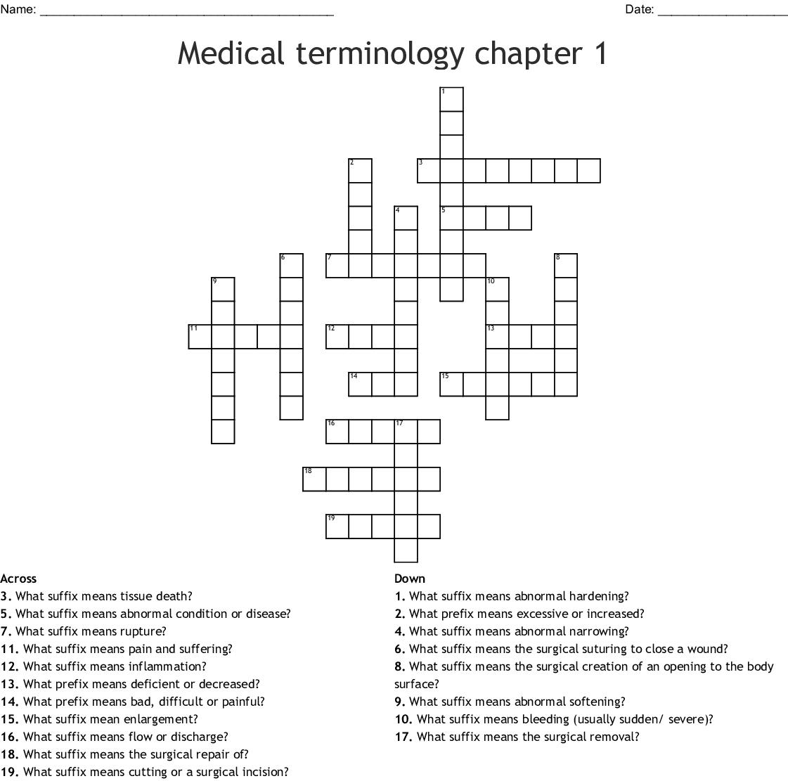 Exo Prefix Medical Term
